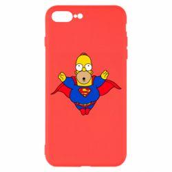 Чехол для iPhone 8 Plus Simpson superman