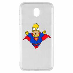 Чехол для Samsung J7 2017 Simpson superman