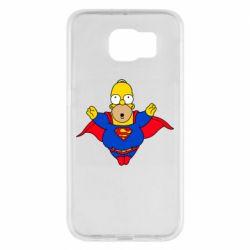 Чехол для Samsung S6 Simpson superman