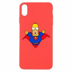 Чехол для iPhone Xs Max Simpson superman