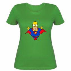 Женская футболка Simpson superman