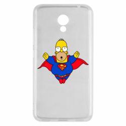 Мужская футболка  с V-образным вырезом Simpson superman