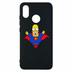 Мужская стрейчевая футболка Simpson superman