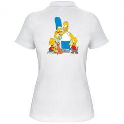 Женская футболка поло Simpsons Family