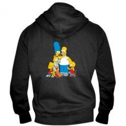 Мужская толстовка на молнии Simpsons Family