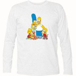 Футболка с длинным рукавом Simpsons Family - FatLine