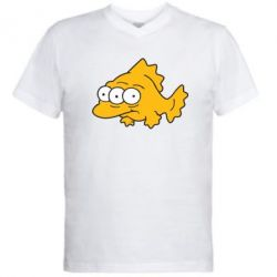 Мужская футболка  с V-образным вырезом Simpsons three eyed fish