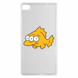Чехол для Huawei P8 Simpsons three eyed fish - FatLine