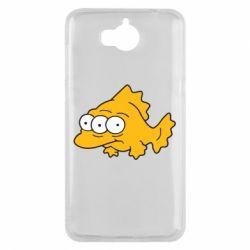 Чехол для Huawei Y5 2017 Simpsons three eyed fish - FatLine