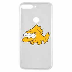 Чехол для Huawei Y7 Prime 2018 Simpsons three eyed fish - FatLine