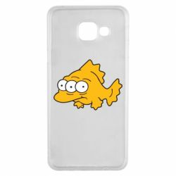Чехол для Samsung A3 2016 Simpsons three eyed fish - FatLine