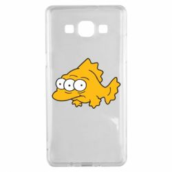 Чехол для Samsung A5 2015 Simpsons three eyed fish - FatLine