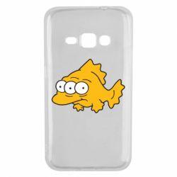 Чехол для Samsung J1 2016 Simpsons three eyed fish - FatLine