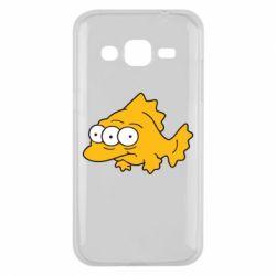 Чехол для Samsung J2 2015 Simpsons three eyed fish