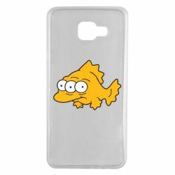 Чехол для Samsung A7 2016 Simpsons three eyed fish - FatLine