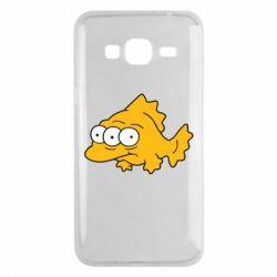 Чехол для Samsung J3 2016 Simpsons three eyed fish - FatLine