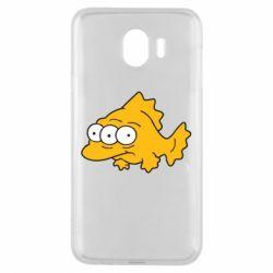 Чехол для Samsung J4 Simpsons three eyed fish