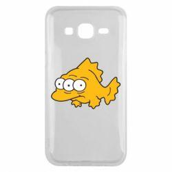 Чехол для Samsung J5 2015 Simpsons three eyed fish - FatLine