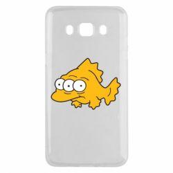 Чехол для Samsung J5 2016 Simpsons three eyed fish - FatLine