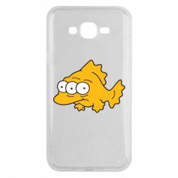 Чехол для Samsung J7 2015 Simpsons three eyed fish - FatLine