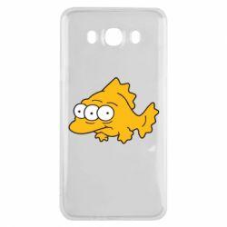 Чехол для Samsung J7 2016 Simpsons three eyed fish - FatLine