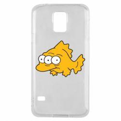 Чехол для Samsung S5 Simpsons three eyed fish - FatLine