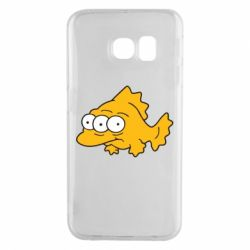 Чехол для Samsung S6 EDGE Simpsons three eyed fish - FatLine