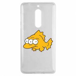 Чехол для Nokia 5 Simpsons three eyed fish - FatLine