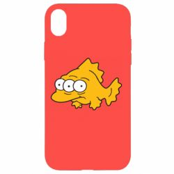 Чехол для iPhone XR Simpsons three eyed fish