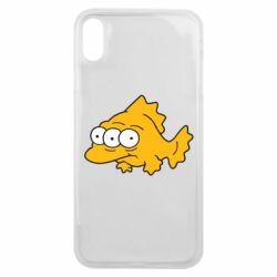 Чехол для iPhone Xs Max Simpsons three eyed fish - FatLine