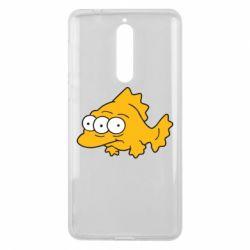 Чехол для Nokia 8 Simpsons three eyed fish - FatLine