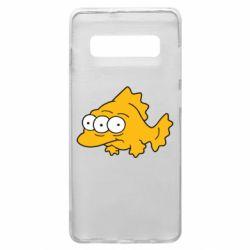 Чехол для Samsung S10+ Simpsons three eyed fish