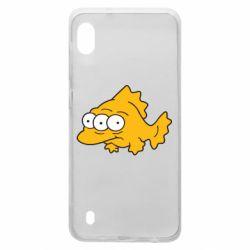 Чехол для Samsung A10 Simpsons three eyed fish