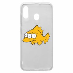 Чехол для Samsung A20 Simpsons three eyed fish