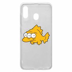 Чехол для Samsung A30 Simpsons three eyed fish
