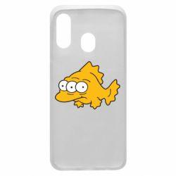 Чехол для Samsung A40 Simpsons three eyed fish