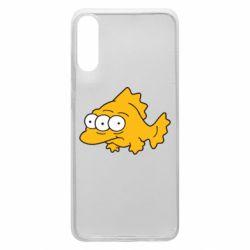 Чехол для Samsung A70 Simpsons three eyed fish