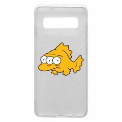 Чехол для Samsung S10 Simpsons three eyed fish