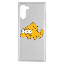 Чехол для Samsung Note 10 Simpsons three eyed fish