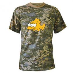 Камуфляжная футболка Simpsons three eyed fish - FatLine
