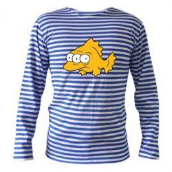 Тельняшка с длинным рукавом Simpsons three eyed fish - FatLine