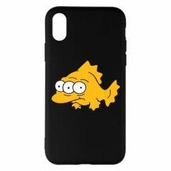 Чехол для iPhone X Simpsons three eyed fish - FatLine