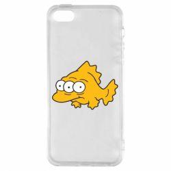Чехол для iPhone5/5S/SE Simpsons three eyed fish - FatLine