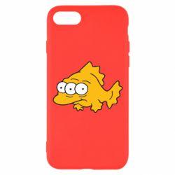 Чехол для iPhone 8 Simpsons three eyed fish