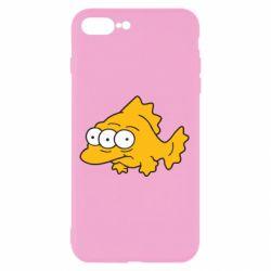 Чехол для iPhone 8 Plus Simpsons three eyed fish