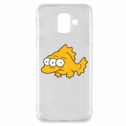Чехол для Samsung A6 2018 Simpsons three eyed fish
