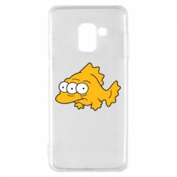 Чехол для Samsung A8 2018 Simpsons three eyed fish - FatLine