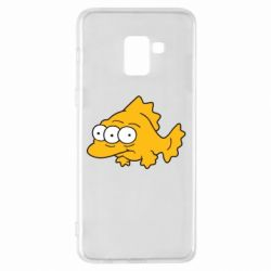 Чехол для Samsung A8+ 2018 Simpsons three eyed fish