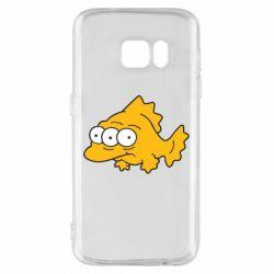 Чехол для Samsung S7 Simpsons three eyed fish - FatLine