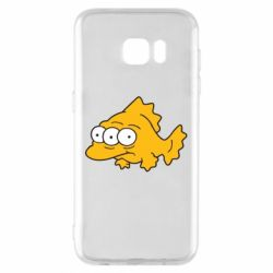 Чехол для Samsung S7 EDGE Simpsons three eyed fish - FatLine